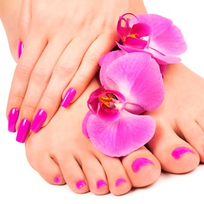 Mani pedi with optional Facial or Foot treatment